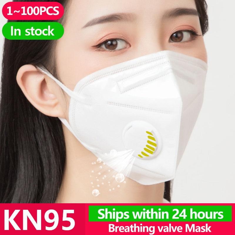 1~100PCS KN95 N95 Gas Protection Mask Flu Facial Dust Pm2.5 Filter Respirator Ffp3 Antivirus Masks Kf94 Ffp2 Template Shield