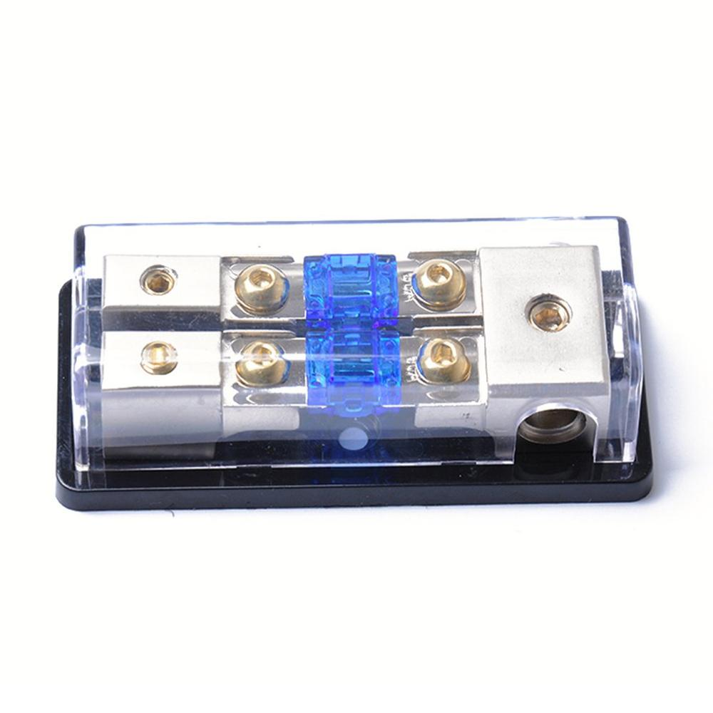 Car Audio Modified ANL <font><b>Fuse</b></font> <font><b>Holder</b></font> One Into Two Out Mini 4GA 8GA with <font><b>60A</b></font> <font><b>Fuse</b></font> Car Accessories image
