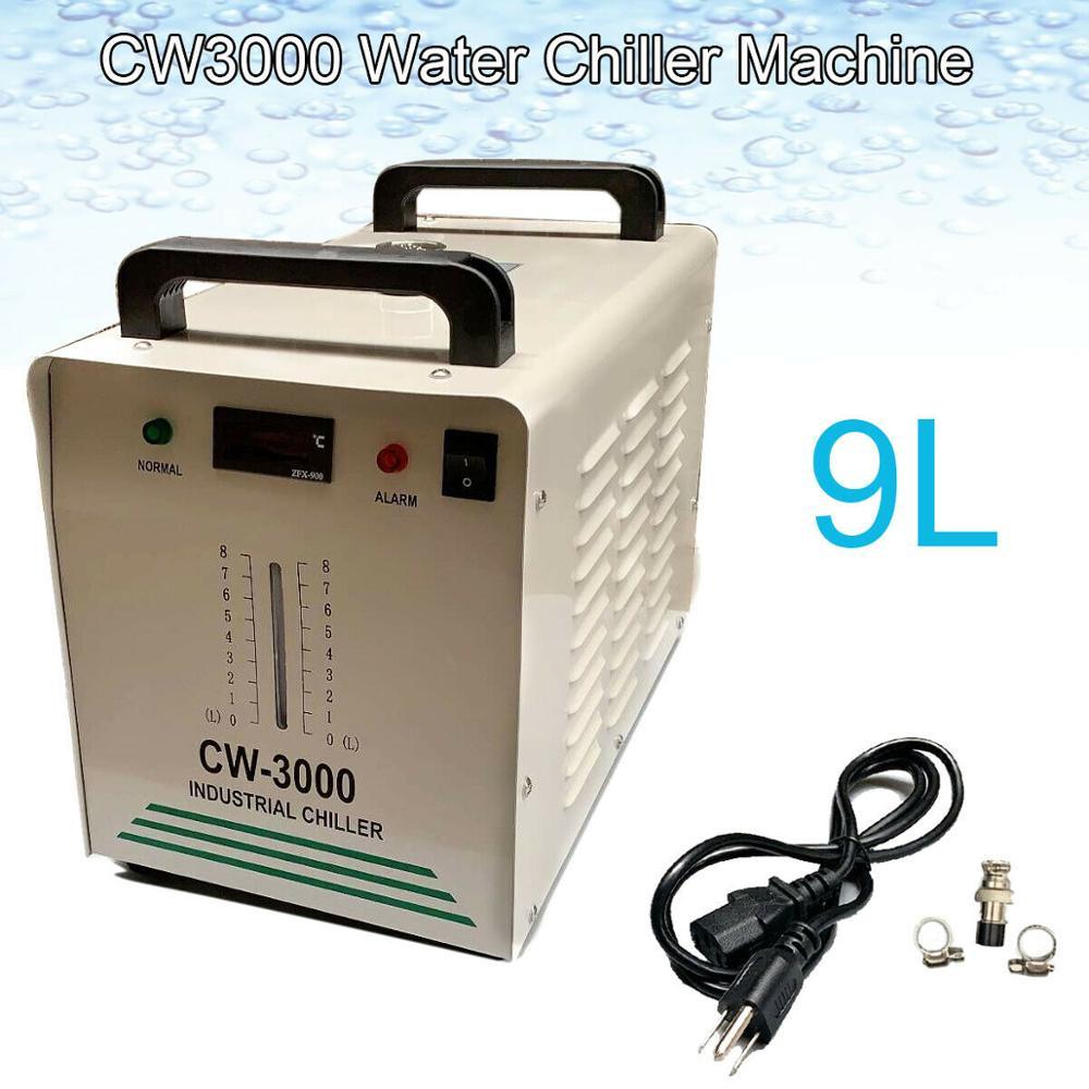 9L Industrial Water Chiller Chiller Co2 CW-3000 Laser Tube Engraving Machine Laser Tube Engraver