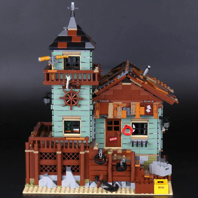 De Oude Afwerking Winkel MOC Serie 21310 Oude Vissen Winkel Set Bouwstenen Bakstenen Educatief Kinderen verjaardag speelgoed 16050 - 2