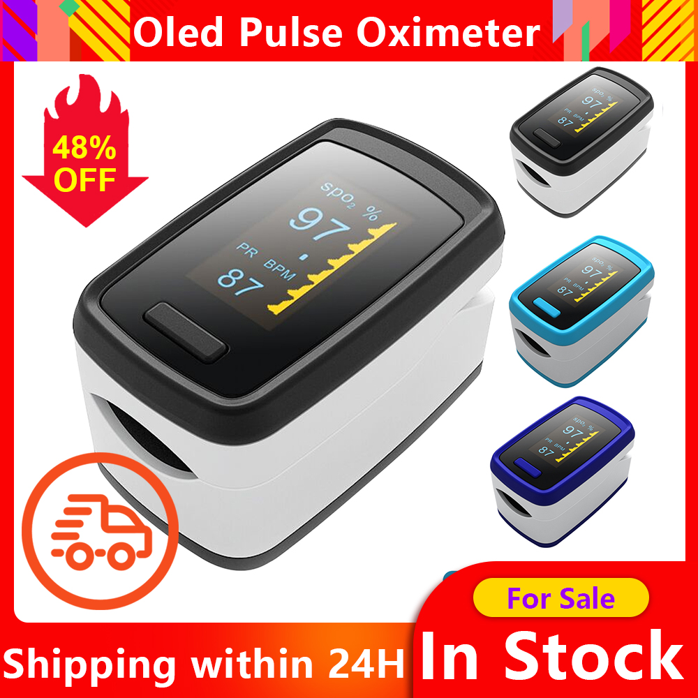 Blood Oxygen Monitor Finger Pulse Oximeter Oxygen Saturation Monitor SpO2 Oximetry Monitor Oled Oximetry Health Care Ox