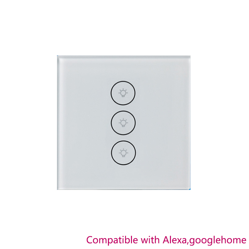 White Smart Switch 1/2/3 Gang Wifi Water Heater Boiler Switches For Alexa Google Home Voice Touch Panel Timer Phone App Control