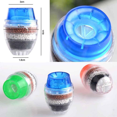 H344cad7b2e004ce984dc273f481067c1b 5 Layers Water Purifier Filter Activated Carbon Filtration Mini Faucet Purifier Kitchen Faucet Tap Water Purifier Household Tool