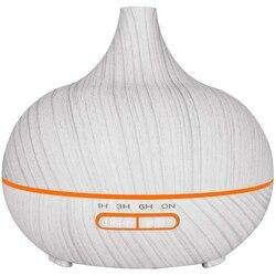 300Ml elektryczny nawilżacz dyfuzor olejów zapachowych ultradźwiękowe białe drewno ziarna oczyszczacz powietrza dla domu Uk Plug w Nawilżacze powietrza od AGD na