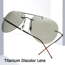 JackJad Ultralight Titanium Polarized Discolor Lens Sunglasses Driving Fishing Fold Hinge Brand Design Sun Glasses Oculos De Sol