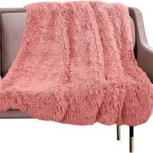 Роскошное длинное плюшевое одеяло меховой плед фланелевый лохматый чехол одеяло постельные принадлежности Простыня флис супер мягкие теплые броги для кровати диван путешествия