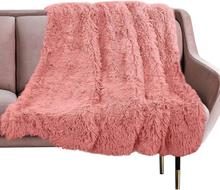 Luxury Long Plush Blanket Fuzzy Fur Flannel Shaggy Cover Bedding Sheet Fleece Super Soft Warm Throws for Bed Sofa Travel