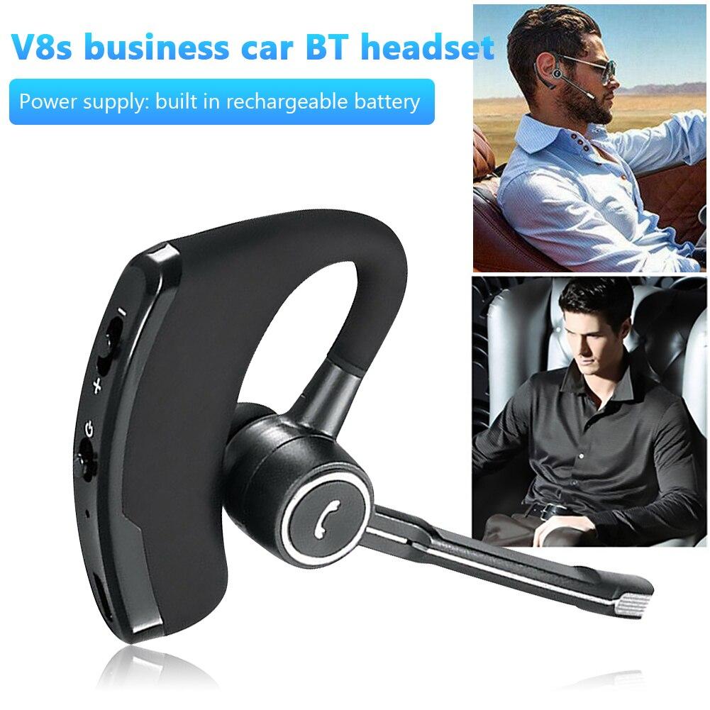 V8S питаемые через USB порт Bluetooth наушники с Ушные крючки Шум снижение Бизнес Беспроводной хэндс-фри Bluetooth гарнитура с микрофоном