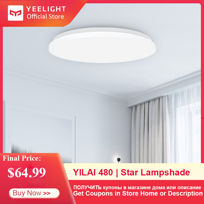 Yeelight YILAI 480 LED Smart plafonnier Simple lampe ronde pour la maison APP/voix/télécommande 32W 220V 2200lm éclairage intérieur