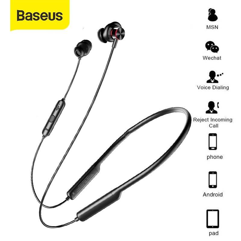 Baseus S12 Bluetooth Earphone Bluetooth 5.0 Neckhand Handsfree Earphone Waterproof Sport Wireless Headphones Headset with Mic|Phone Earphones & Headphones|   - AliExpress