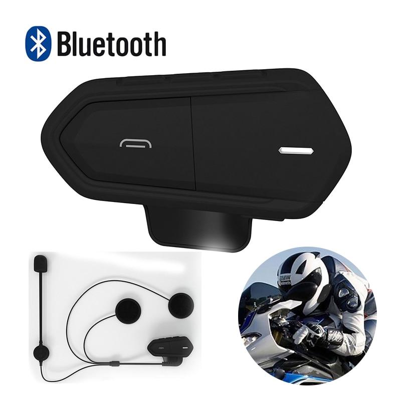 B35 Waterproof Motorcycle Motorbike Helmet Intercom Wireless Handsfree Stereo Earphone High-fidelity Bluetooth Headset