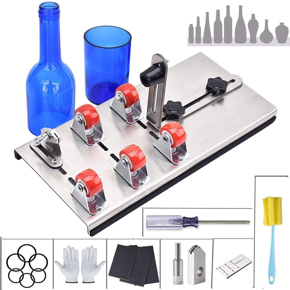 Стеклянная бутылка DIY Резак регулируемые размеры металла Glassbottle резка машина для крафт бутылки вина Бытовая режущий инструмент