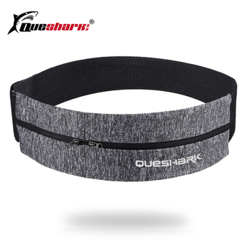 Queshark Elastic Waistband Sport Bag Double Zipper Pocket Waist Running Gym Yoga Belt Pack Mobile Phone Wasit Wallet - discount item  35% OFF Sport Bags