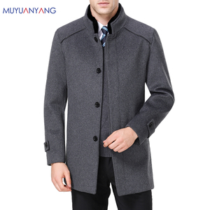 Image 1 - معطف رجالي طويل من الصوف ماركة Mu Yuan Yang معطف 50% من الصوف للرجال ملابس شتوية غير رسمية من الكشمير الدافئ مقاس كبير 5XL 6XL