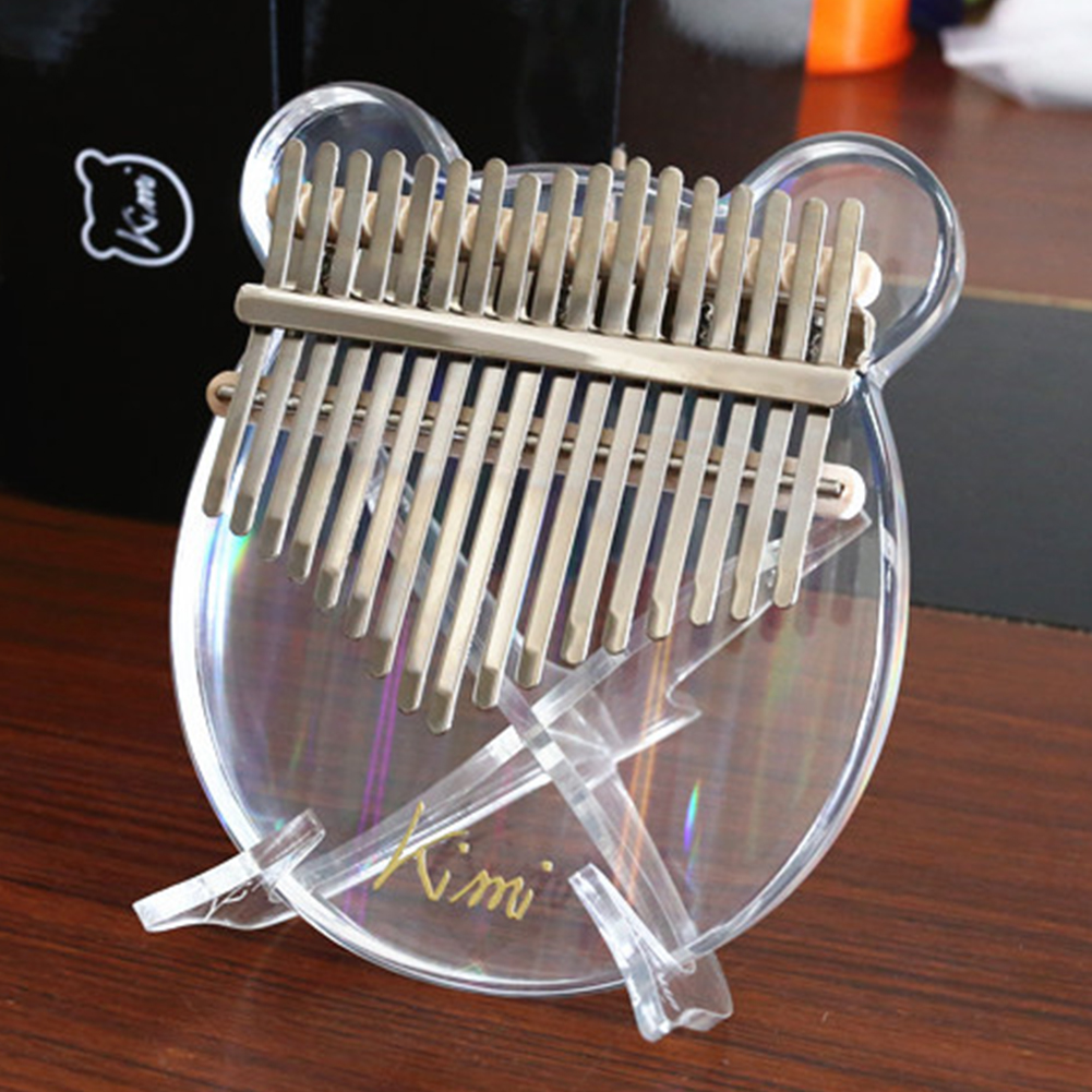 Clear Crystal Acrylic 10/17 Keys Kalimba Holder Stand Thumb Piano Display Rack Finger Mbira Holder Support Bracket