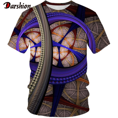 3D Colorful Personality Pattern Print  Men 3d T-shirt Black Tee Casual Top Anime Camiseta Streatwear Short Sleeve Cloth Size 6xl