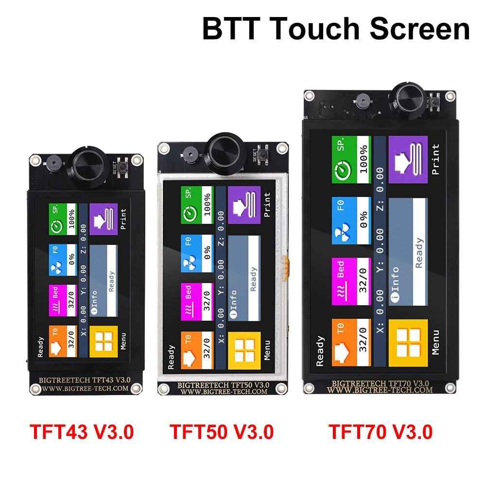 Bigtreetech tft43 v3.0 tft50 tft70 tela sensível ao toque 12864lcd wifi peças de impressora 3d vs mks tft70 para skr v1.4 turbo mini e3 Ender-3