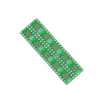 Konwertować SOT23 SOP10 MSOP10 Umax SOP23 do DIP10 tablica korkowa zmienia SMD DIP Adapter płyta 10 sztuk 0 5mm 0 95mm do 2 54mm DIP Pin płytka drukowana tanie i dobre opinie JINHF CN (pochodzenie)