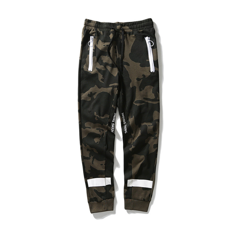 Ow Camouflage Casual Trousers 2018 New Style Pure Cotton Beam Leg Zipper Europe And America Popular Brand Sweatpants Gymnastic P