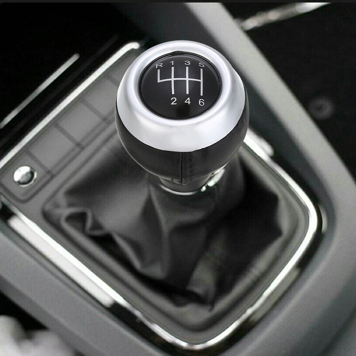 Car 6 Speed Manual Gear Shift Knob Leather For Mini Cooper R55 R56 R57 R58 R59