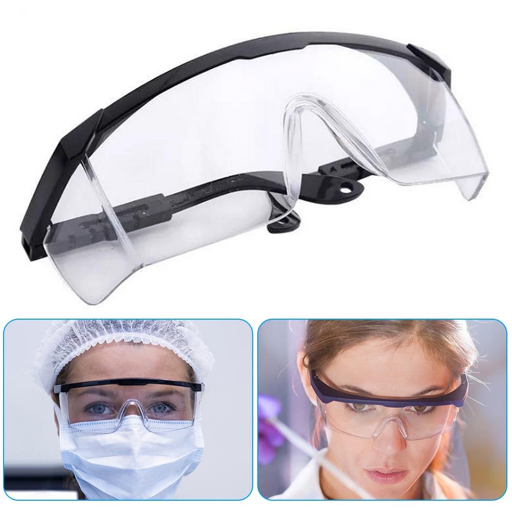 Safety Goggles Anti Virus Fog Dust Splash Proof Glasses Eyewear Black Frame