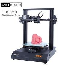 Anet impresora 3D ET4/ET4 Pro con pantalla táctil a Color de 2,8 pulgadas, hoja de impresión, detección de filamentos, nivelación automática