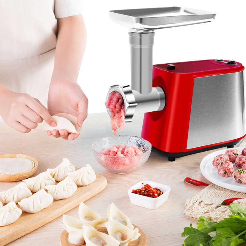 Heavy Duty 3 in 1 Elettrico 2200W Potente Tritacarne macchina A Casa a base di Carne di Salsiccia Stuffer Mincer Robot da Cucina con il Pomodoro spremiagrumi