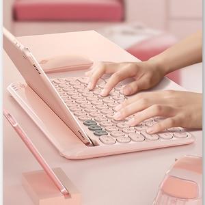 Image 2 - Bluetoothワイヤレスサイレントミニゲームセットキーボードマウスコンボマジックキーボードマウスキットipadと電話hp huawei社ノートpcゲーマー