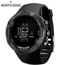 Мужские спортивные цифровые часы NORTH EDGE, водонепроницаемые часы для бега, плавания, 50 альтиметров, барометр, компас, погода для мужчин