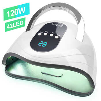 120W/168W Newest High Power Gel Lamp 42 leds UV Lamps Fast Curing Nail Dryer With Big Room and Timer Smart Sensor Nail Tools
