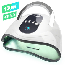 Nails High Power lampa żelowa 42 leds lampy UV szybka lampa do utwardzania paznokci z dużym pokojem i zegarem inteligentne czujniki do paznokci
