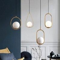 Moderne LED Runde Glas Ball Anhänger Lichter Eisen E14 Anhänger Lampen Hängen Leuchte für Wohnzimmer Schlafzimmer Esszimmer