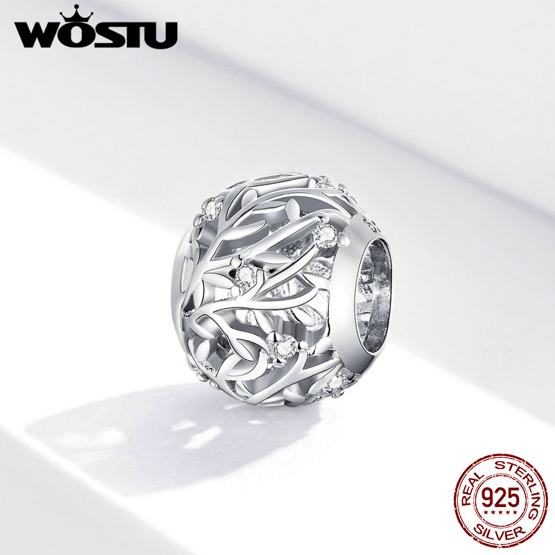 WOSTU 2020 New Original Vine Bead fit Pandora charms silver 925 beads Bracelet for women girl diy fashion jewelry Make(China)