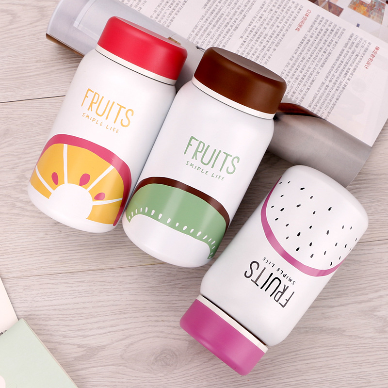 350ml <font><b>Baby</b></font> Fruit Feeding Cup Stainless Steel Milk Thermos for Children Insulated hot water Bottle leak-<font><b>poof</b></font> thermal Cup image