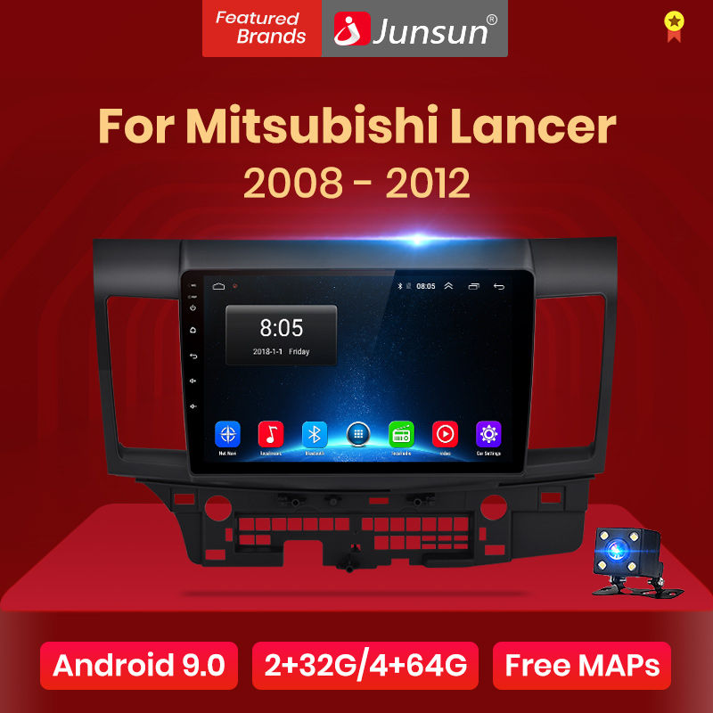 Junsun V1 2G + 32G Android 9,0 para Mitsubishi Lancer 10 2007 - 2013 auto Radio Multimedia reproductor de Video GPS de navegación 2 din dvd