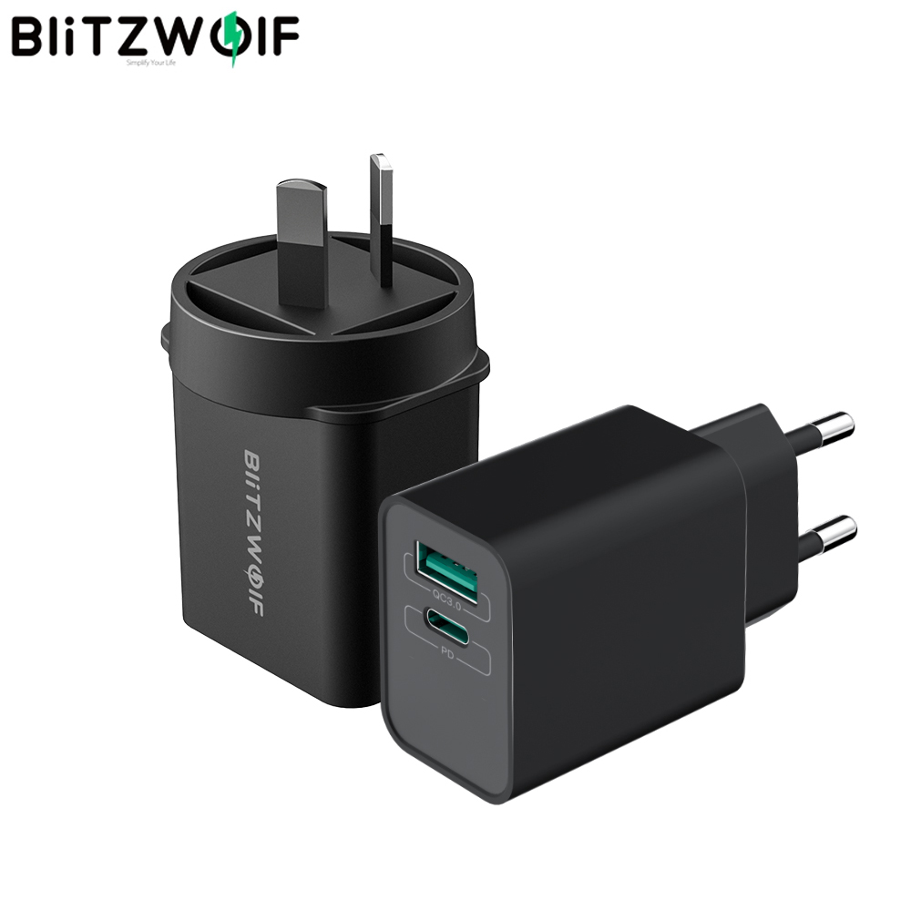 BlitzWolf 18W Type C PD3.0 USB QC3.0 Fast Charging Wall USB Charger for iPhone 11 Pro XR for Huawei P30 for Samsung for Xiaomi|Mobile Phone Chargers| - AliExpress