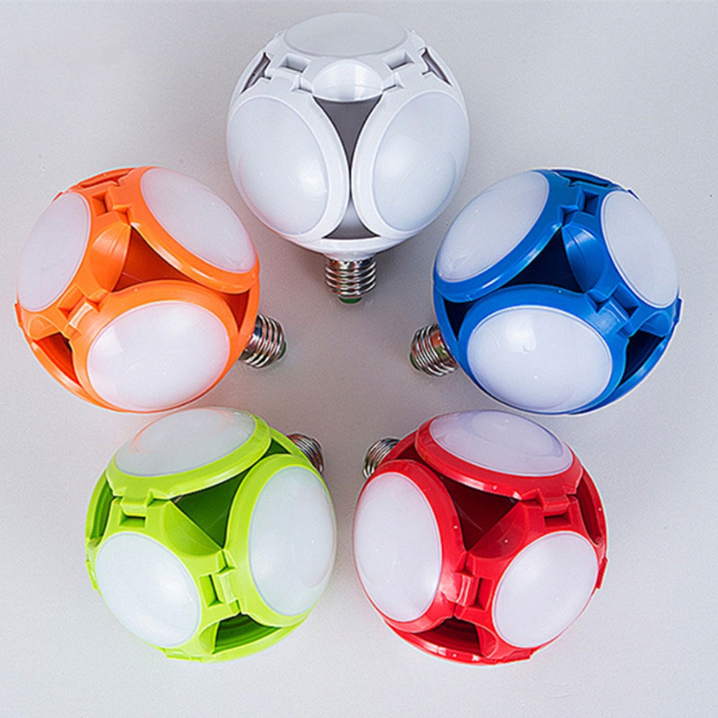 Светодиодный складной Футбол лампа UFO, 5-листный 30Вт чип светильник Выдвижная лампы широкий Напряжение высокое Яркость светильник в