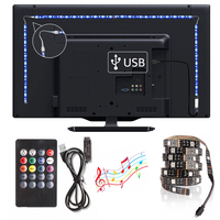 5V LED USB de neón LED flexible lámpara 50CM 1M 2M 3M 4M 5M SMD5050 de cinta RGB diodo las luces ledstrip TV iluminación de fondo