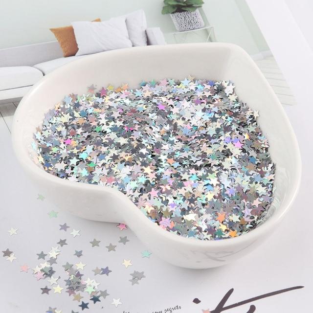 3mm Star Ultrathin Sequins Nail Art Glitter Mini Paillette Eo Friendly PET Sequin Nail Decoration Manicure Material 10g