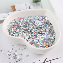Glitter ultrafino para arte nas unhas, 3mm, estrela, glitter, mini paillette eo, amigável, para animais de estimação, lantejoulas, decoração para unhas, material para manicure 10g