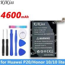 4600mah para huawei original kikiss bateria hb396285ecw para huawei honor 10 p20 baterias de substituição do telefone alta qualidade