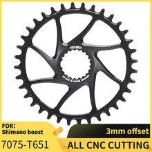 Nova passagem quest 3mm offset 38/4042/44t montanha bicicleta estreita roda dentada para deore xt m7100/8100/9100 shimano 12s impulso manivela