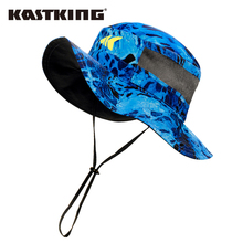 KastKing güneş koruma balıkçı şapkası nefes açık spor şapka balıkçılık şapkası ile ayarlanabilir çene kayışı balıkçılık giyim