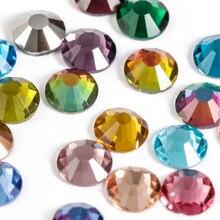 Astrobox nuevo SS3-SS30 redonda, Parte posterior plana de diamantes de imitación muchos colores de cristal de diamantes de imitación de cuentas sueltas DIY ropa y accesorios