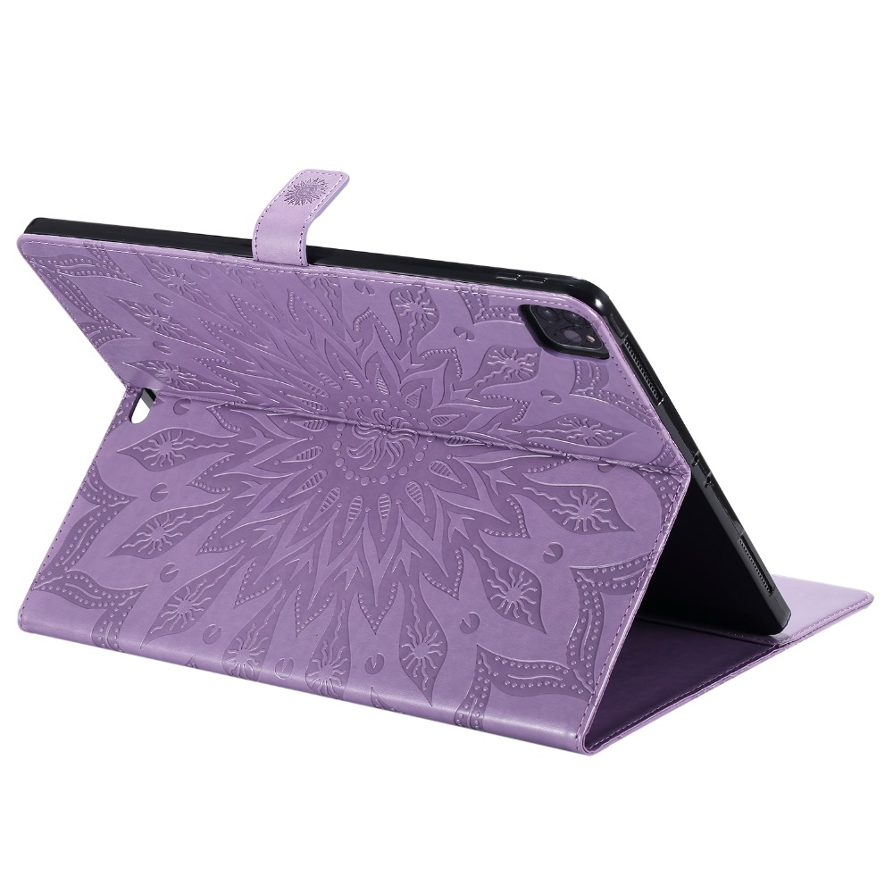 Case 2020 9 Skin Embossed for Pro iPad 12 3D Flower Protective Cover Shell Leather