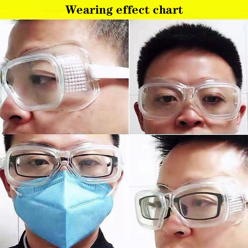 High-Quality Protective Goggles Windproof Anti-Fog Protection Safety Laboratory Work Articles Safety Glasses