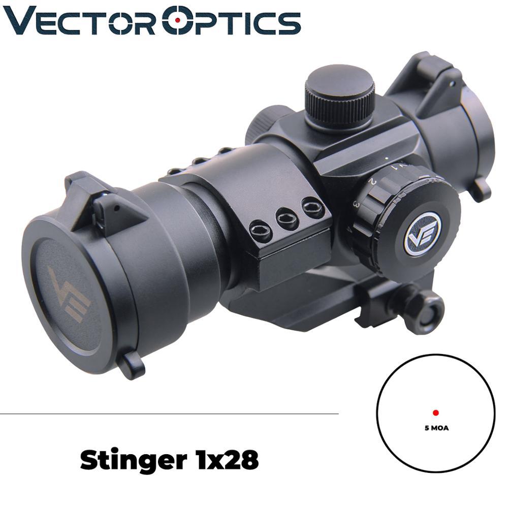 Óptica do Vetor Stinger Riflescope Vista. 223 5.56mm Ar15 m4 M16 Escopo 1×28 Red Dot