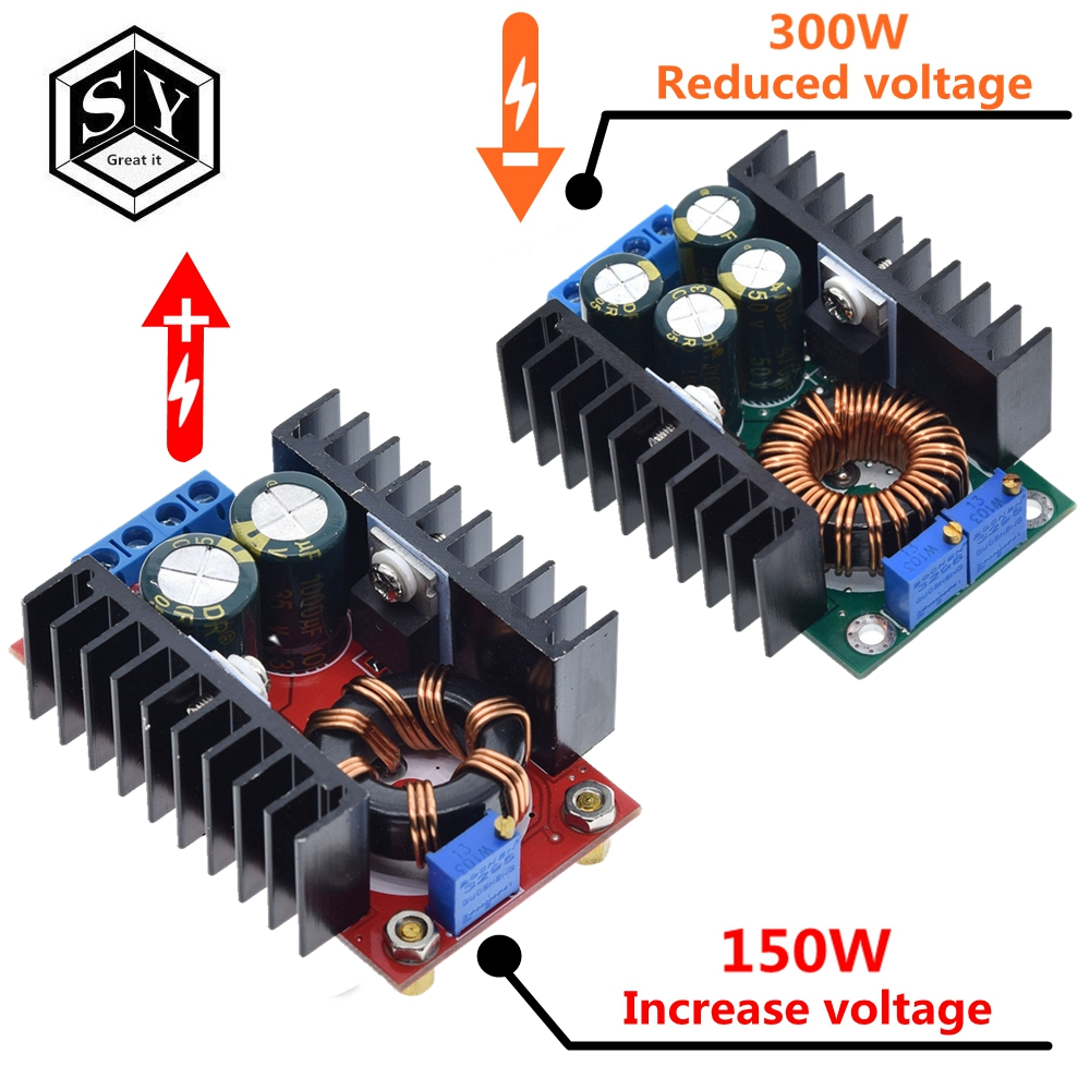 1PCS GREAT IT DC DC 9A 300W 150W Boost Converter Step Down Buck Converter 5-40V To 1.2-35V Power Module XL4016
