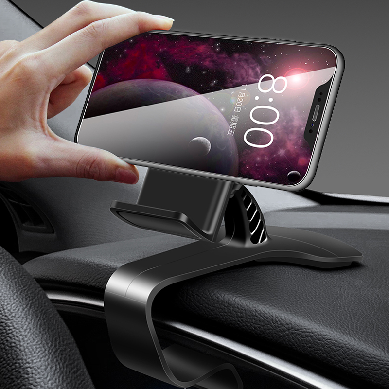 XMXCZKJ Car Phone Mount Dashboard Clip Cell Phone Holder HUD For IPhone 11 Pro Max Xs Mobile Phone Support In Car Phone Stands