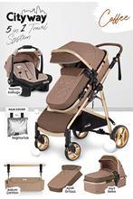 Samochód dziecięcy 5 w 1 krzesło transportowe torba konserwacyjna płaszcz przeciwdeszczowy-Ultra lux pełne opakowanie doskonała jakość wózka dla bogatego statku tanie tanio CN (pochodzenie)